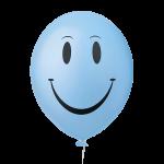 Happy Face Azul Claro