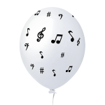 Notas Musicais Branco