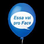 Placa Festa Azul Essa vai pro face