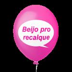 Placa Festa Rosa Beijo pro recalque
