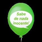 Placa Festa Verde Sabe de nada inocente